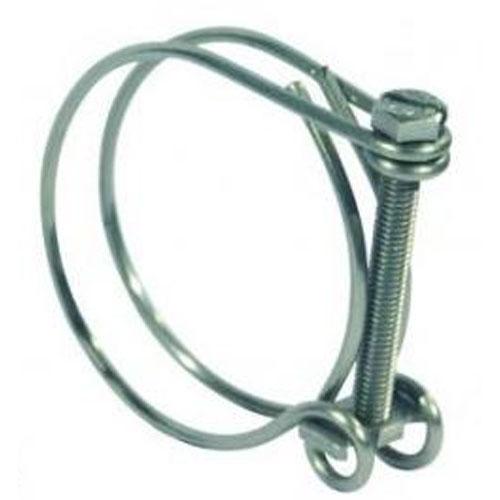2 colliers pour tuyau annelé maxi 43mm