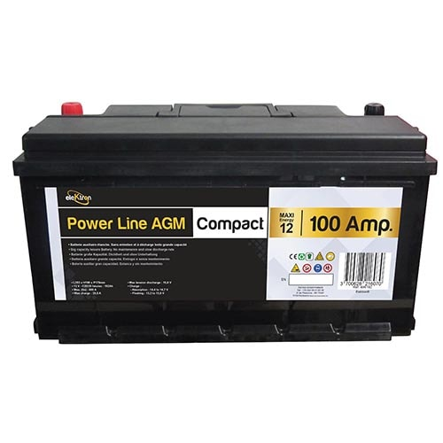 batterie auxiliaire power line agm 100 amp res compact powerlib 39. Black Bedroom Furniture Sets. Home Design Ideas