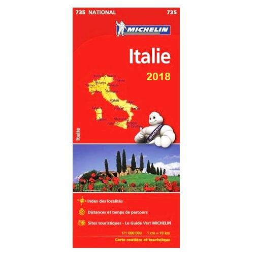 carte routi re michelin italie 2018 avec principaux sites touristiques. Black Bedroom Furniture Sets. Home Design Ideas