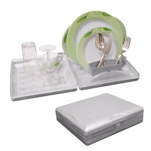 gouttoir vaisselle repliable type valise 29 50 x 25cm camping car. Black Bedroom Furniture Sets. Home Design Ideas