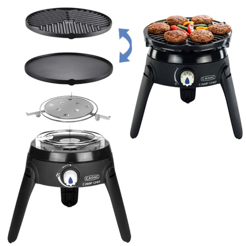 barbecue gaz cadac safari chef 2 multifonctions t tine camping car. Black Bedroom Furniture Sets. Home Design Ideas
