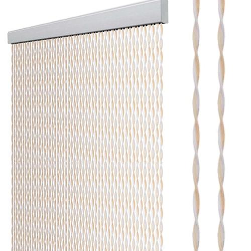 rideau de porte 205 x 56 cm gris blanc bleu. Black Bedroom Furniture Sets. Home Design Ideas