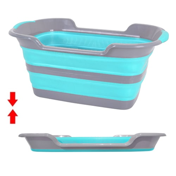 bassines et paniers linge pliables en silicone ultra. Black Bedroom Furniture Sets. Home Design Ideas