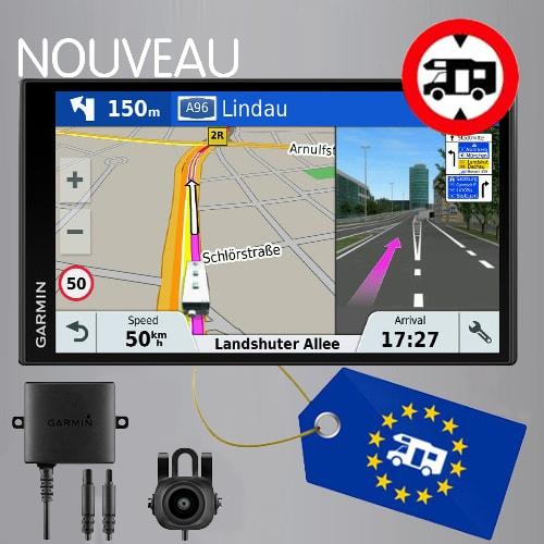 Nouveau GPS Garmin Camper 770 LMT-D + Caméra de recul BC30