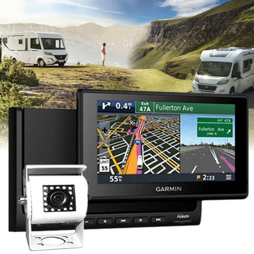 station multim dia gps fusion garmin rvbbt 602 cam ra camping car. Black Bedroom Furniture Sets. Home Design Ideas