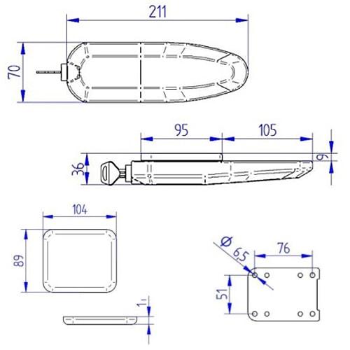 Serrure Ext 233 Rieure Universal Lock Thule Blanc Camping