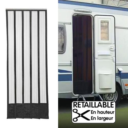moustiquaire rideau de porte 185 x 65 cm camping car caravane. Black Bedroom Furniture Sets. Home Design Ideas