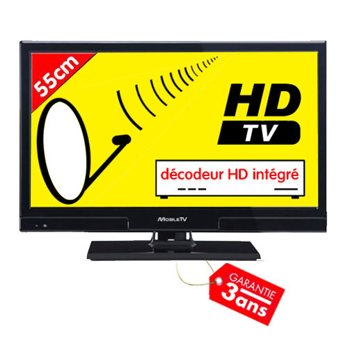 Télévision LED HD T2 S2 55cm compatible satellite