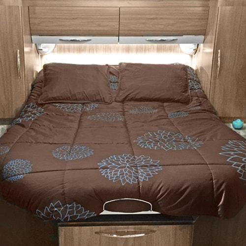 lit tout fait 140x190 cosy camping car caravane bateau. Black Bedroom Furniture Sets. Home Design Ideas