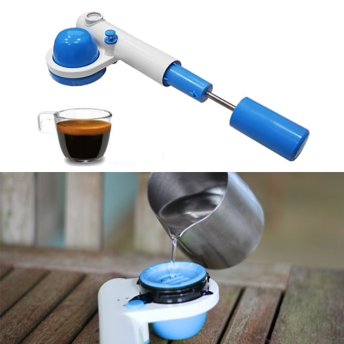 machine expresso handpresso pump pop pompe camping. Black Bedroom Furniture Sets. Home Design Ideas