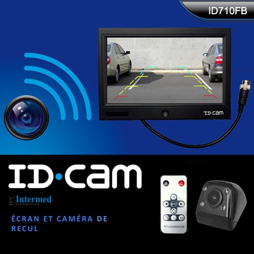 cam ra radar de recul idcam id710fb avec vision nocturne camping car. Black Bedroom Furniture Sets. Home Design Ideas