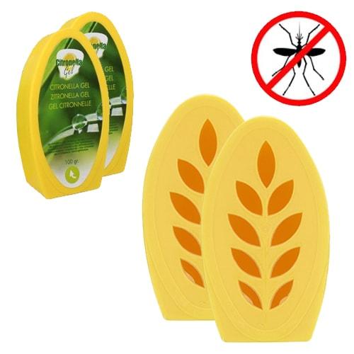 Gel Citronnelle Anti Moustiques 100 Gr   Lot De 2