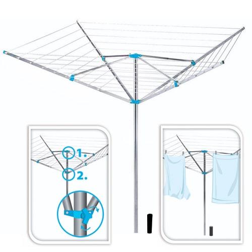 s choir et s che linge parapluie en alu 180cm id al en. Black Bedroom Furniture Sets. Home Design Ideas