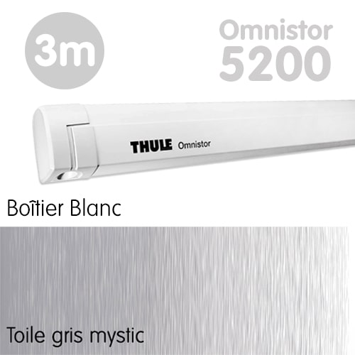 Store Thule Omnistor 5200 Blanc 3m Gris Mystic