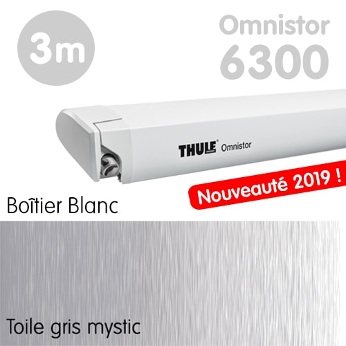 Nouveau Store Thule Omnistor 6300 Blanc 3m Gris Mystic