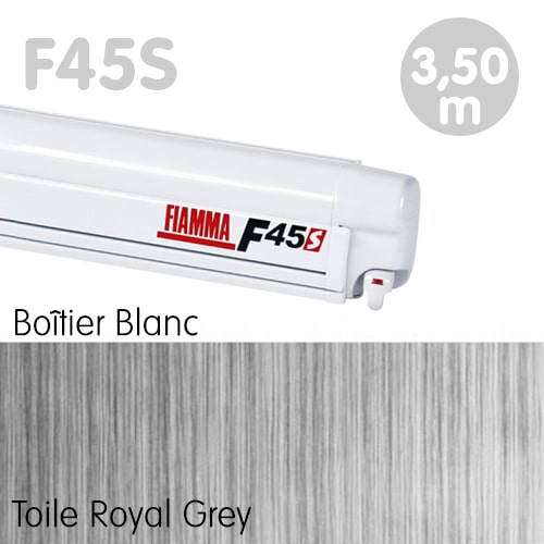 Store Fiamma F45S Blanc 3m50 Royal Grey