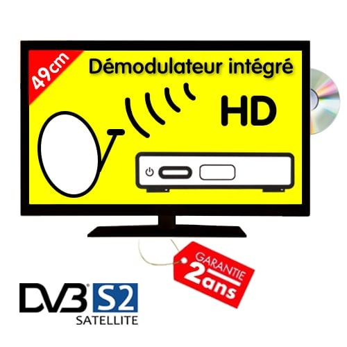 TV HD Digihome 49cm DVBT S2 compatible satellite