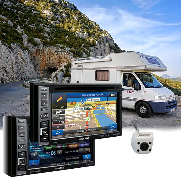 Station Multimédia Alpine Inew990 Hdmi Camera De Recul Pour Ducato