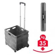 Chariot Box pliant 35 kg à roulettes