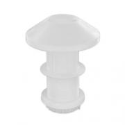 Cheminée de toit blanche diamètre 60 mm