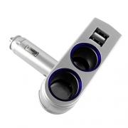 Double prise TYPE allume-cigare 12 v + 2 prises USB