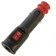 Fiche 12 V 8A avec interrupteur