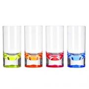 Lot de 4 verres acryliques 29cl Fond coloré