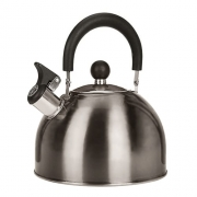 Bouilloire inox à sifflet 2,5 L Gris