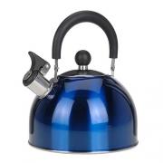 Bouilloire inox à sifflet 2,5 L Bleu