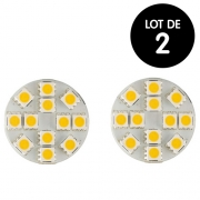 Lot 2 Ampoules LED G4 200 Lumens 2W 28mm fiches AR