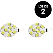 Lot de 2 Ampoules LED G4 100 Lumens 12V 2W 28mm