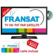 TV HD DVD 49cm Satellite intégré Fransat