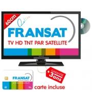 TV HD DVD 60cm Satellite intégré Fransat