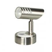 Spot métal 12V LED orientable avec interrupteur tactile