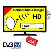 Télévision LED T2 S2 DVD 55cm compatible Satellite