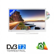 Télévision LED DVD T2 47cm blanche Antarion