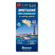 Carte BRETAGNE Aires de CC et parkings gratuits