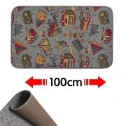 Tapis de passage Camping 100 x 52 cm Gris