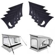 Kit fixation auvent Quickfit pour rail 6 mm