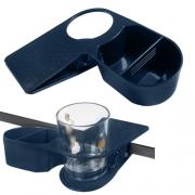 Pince porte-verre + bac Bleue