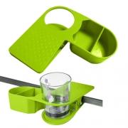 Pince porte-verre + bac Verte