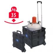 Caisse de transport Pliante 35 kg à roulettes