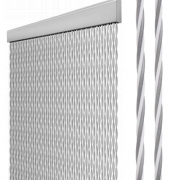 Rideau de porte STRING 60 x 190 cm Gris/Blanc
