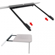 Mécanisme de rallonge de table sur paroi