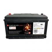 Batterie auxiliaire Power Line AGM 100 AH Compact Powerlib