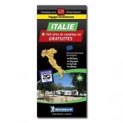 Carte ITALIE Aires de CC et parkings gratuits