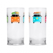Lot de 2 verres hauts 48 cl Camper Smiles