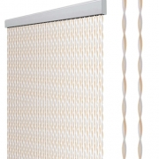 Rideau de porte STRING 60 x 190 cm Beige/Blanc