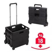 Chariot Box pliant 18 kg à roulettes