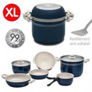 Popote alu XL Blue Sandy 24 cm 8+1 pièces